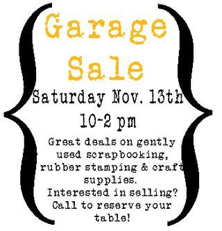 November 2010 garage sale