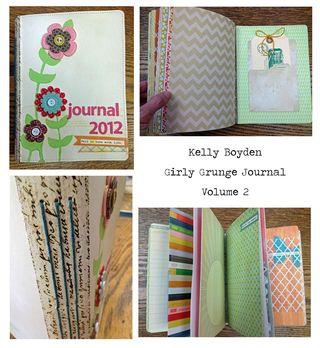 Boyden Girly Grunge Journal Collage