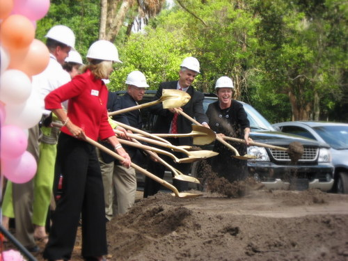 Breaking ground at A Kid's Place.